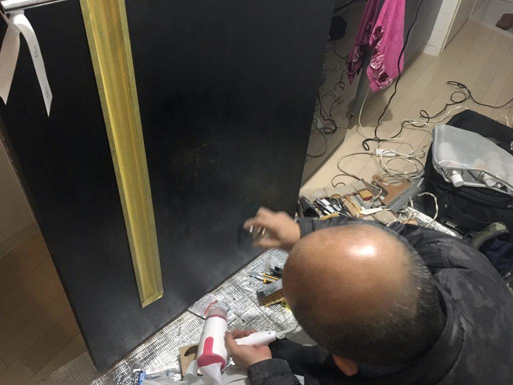 扉の穴補修/リペア中6