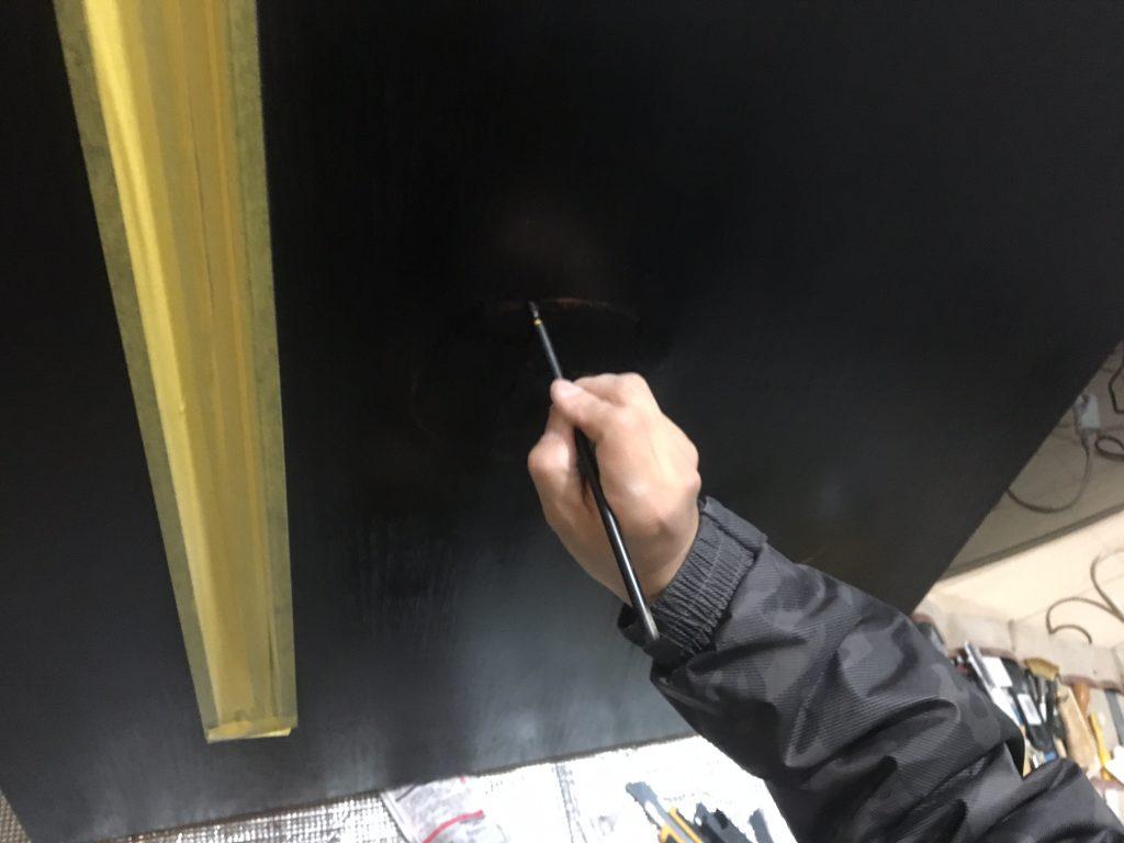 扉の穴補修/リペア中7