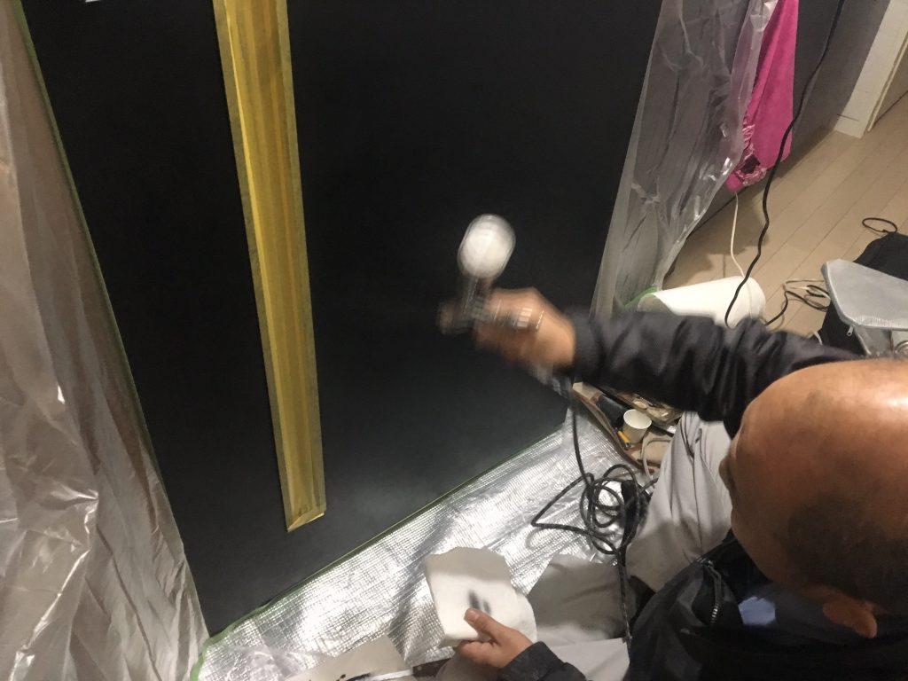 扉の穴補修/リペア中8