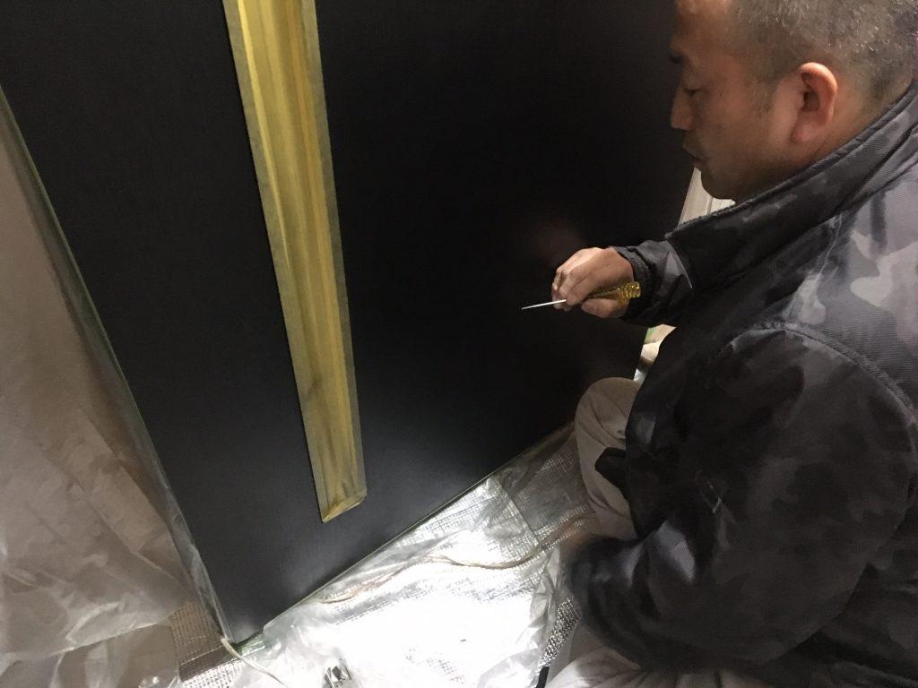 扉の穴補修/リペア中9