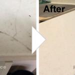 人工大理石カウンターの割れ補修/施工事例