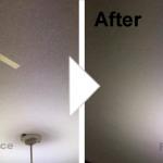 天井の凹みの補修/施工事例
