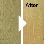 木目ドアの凹み補修/施工事例