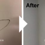 壁の凹み補修/施工事例