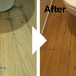 トイレのフローリングの染み補修/施工事例