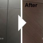 木目扉の凹み補修/施工事例