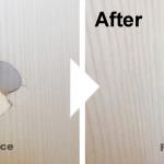 木目扉の穴の補修/施工事例