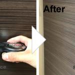 木目扉の傷の補修/施工事例