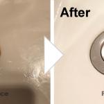 洗面台の排水溝サビの補修/施工事例