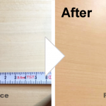 木目扉の凹みの補修/施工事例