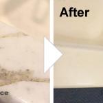 人造大理石の凹み傷の補修/施工事例