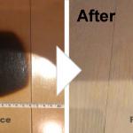 フローリングの焦げ補修/施工事例