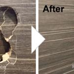 木目扉の穴補修/施工事例