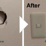 壁の穴補修/施工事例