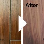 床の凹み補修/施工事例